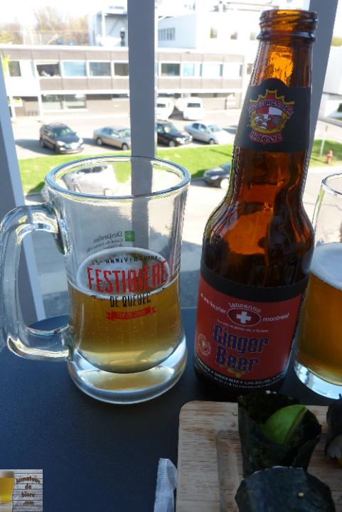 Ginger Beer de la Microbrasserie du Lièvre