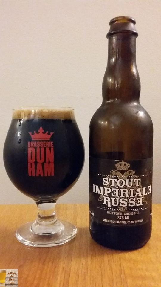 Stout Impérial Russe vieillie en barriques de Tequila de Dunham