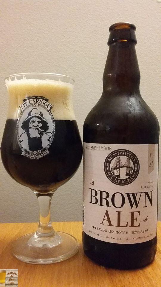 Brown Ale de la Microbrasserie de l'Île d'Orléans