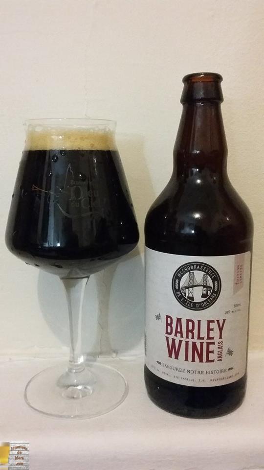 Barley Wine Anglais de la Microbrasserie de l'Île d'Orléans