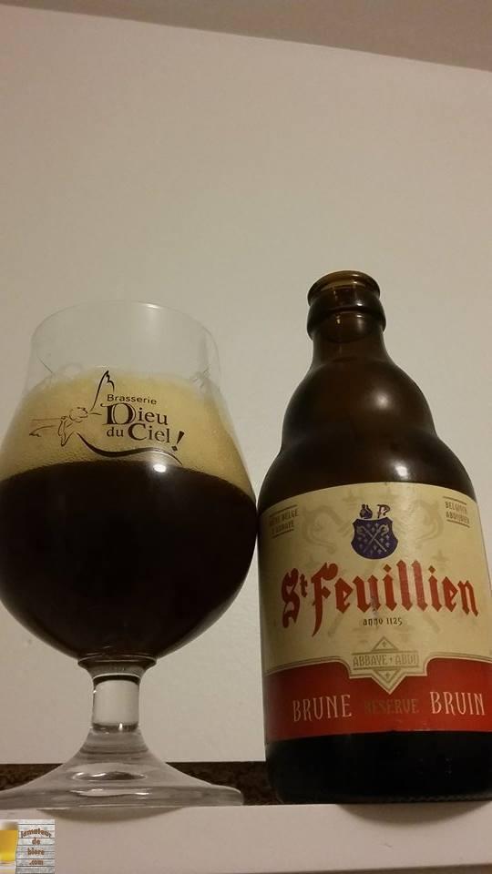 St-Feuillien Brune de la Brasserie St-Feuillien (Belgique)