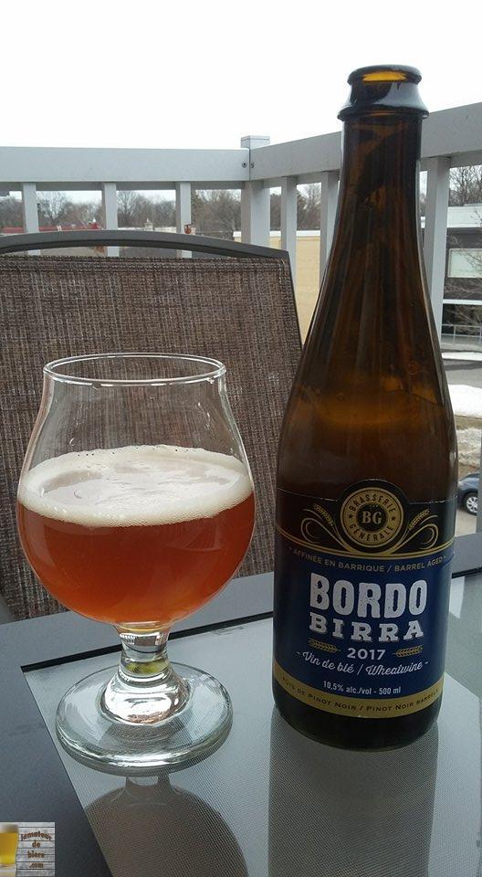 Bordo Birra 2017 de Brasserie Générale