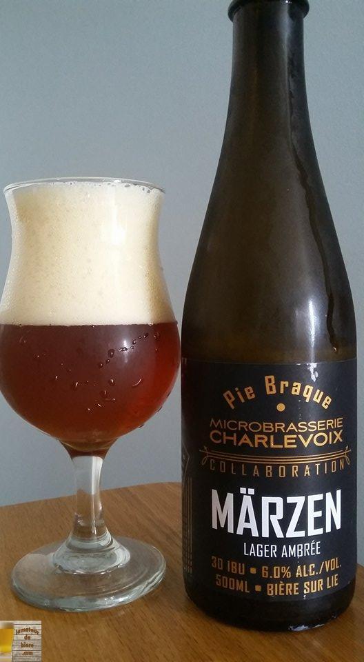 Märzen de Pie Braque et Microbrasserie Charlevoix