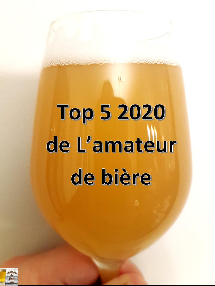 Top 5 2020 de L'amateur de bière