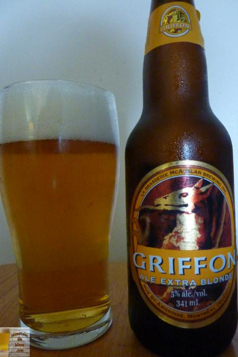 Griffon Blonde de la Brasserie McAuslan