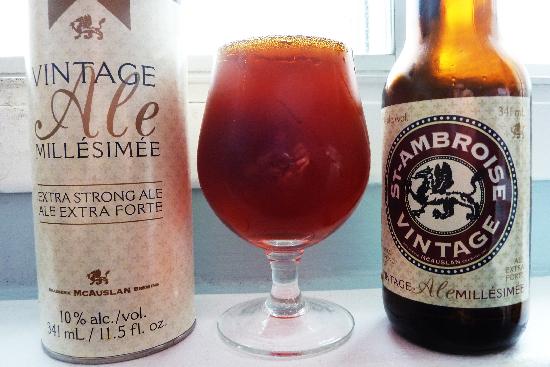 St-Ambroise Vintage Ale Millésimée 2014 de la Brasserie McAuslan
