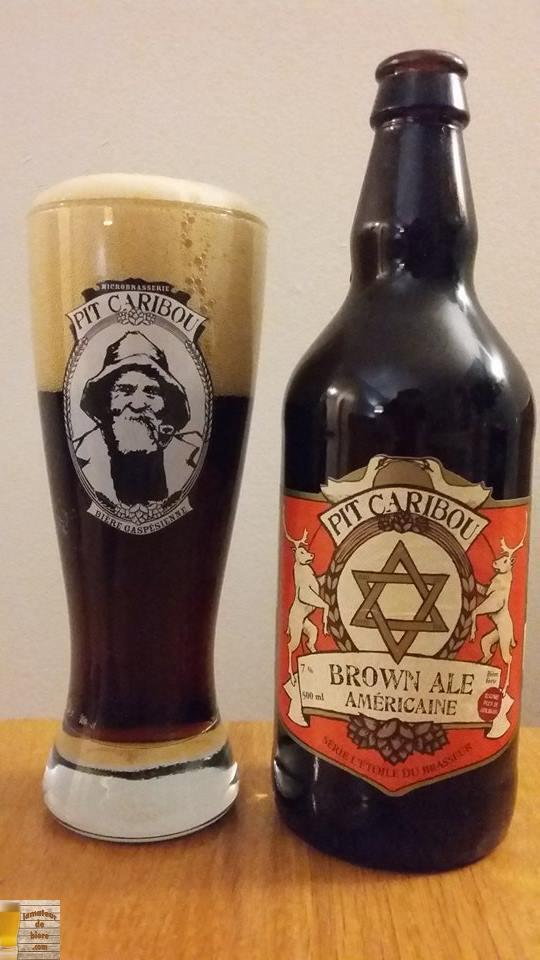 Brown Ale Américaine de Pit Caribou
