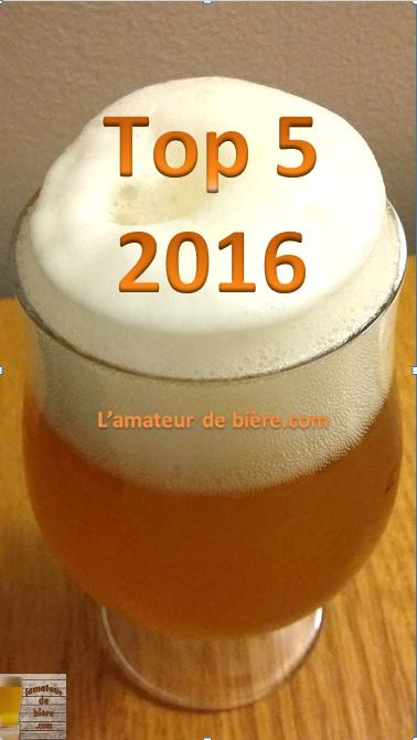 Le Top 5 2016 de L'amateur de bière