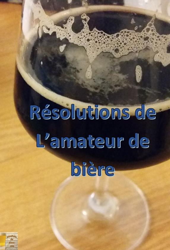 Résolutions du nouvel an pour l'amateur de bière