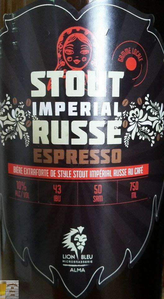 Stout Impérial Russe Espresso du Lion Bleu