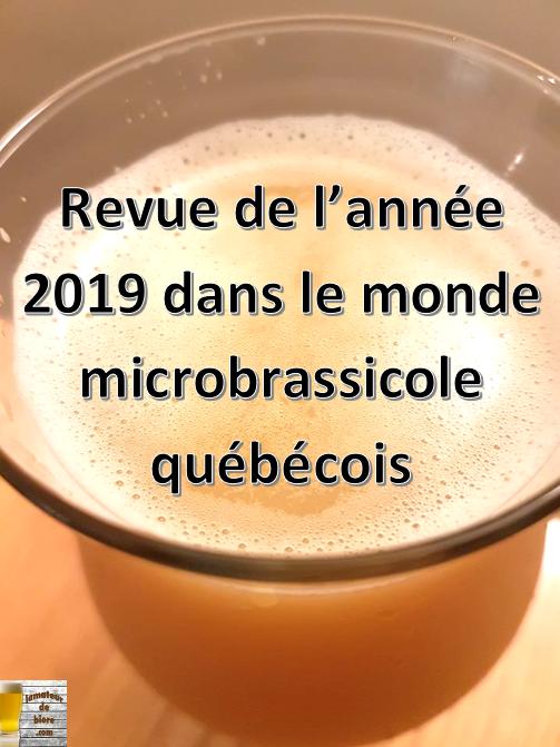 Revue de l'année 2019 dans le monde microbrassicole québécois