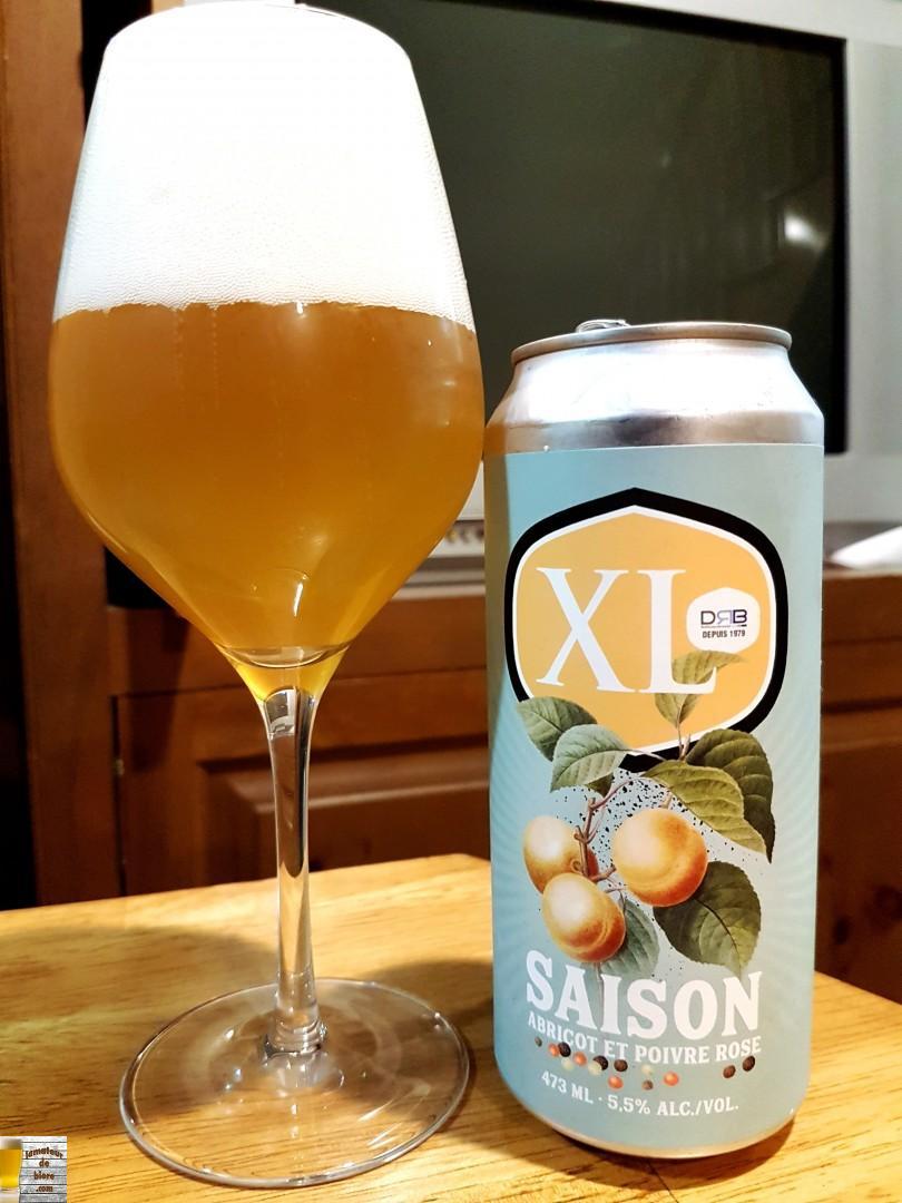 XL Saison Abricot et poivre rose de Brasseurs sur Demande