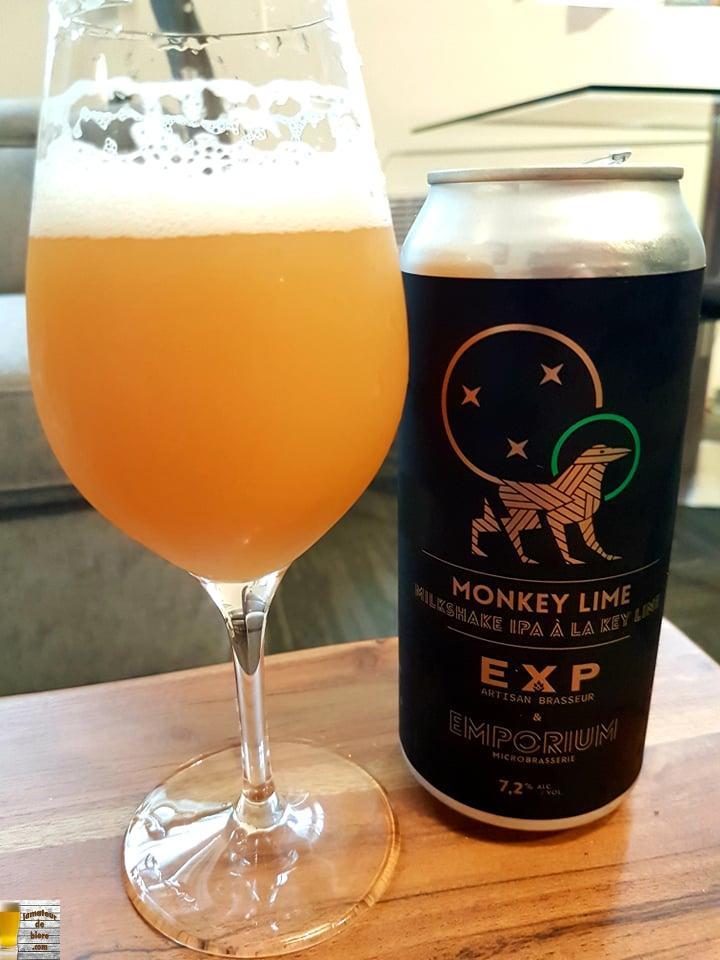 Monkey Lime d'Emporium et EXP Artisan Brasseur